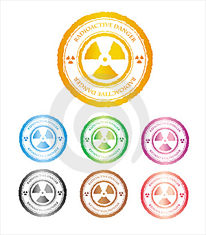 The Press A Sign On Radioactive Danger Stock Image - Image: 14529141