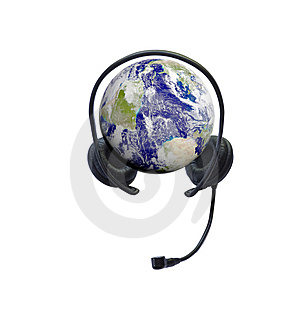 Headphones On Earth Royalty Free Stock Photo - Image: 14529575