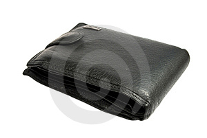Black Leather Wallet Stock Photography - Image: 14530412