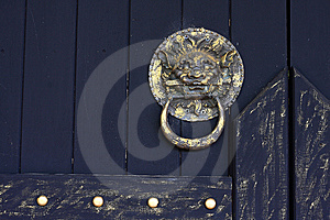 Rustic Lion-head Knocker Royalty Free Stock Photography - Image: 14530867