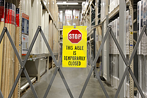 Aisle Is Closed Stock Photography - Image: 14530962