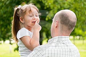Father And His Daughter In Park Royalty Free Stock Photography - Image: 14531787