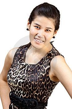 Glimlachend Aziatisch Meisje. Royalty-vrije Stock Foto's - Afbeelding: 14532678