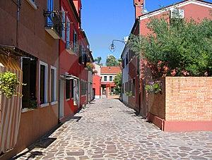 Burano Street Stock Image - Image: 14533221
