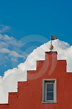 Red Gable Royalty Free Stock Image - Image: 14533976