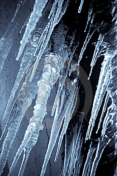 Hanging Icicles Royalty Free Stock Image - Image: 14536836