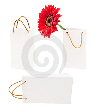 White Gift Packages Stock Image - Image: 14536901