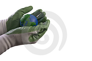 Holding The Earth Royalty Free Stock Photography - Image: 14537557