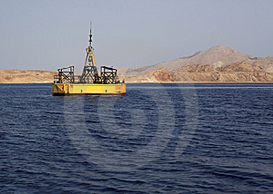Buoy Near The Island Of Tiran. Stock Photo - Image: 14538000