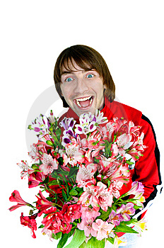 Man With Flowers Stock Photo - Image: 14543370