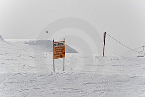 Dangerous Area For Ski Experts Royalty Free Stock Photo - Image: 14544145