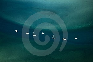 Yachts In High Seas Royalty Free Stock Photo - Image: 14544445
