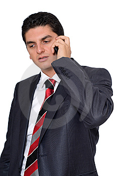 Businessman Listening To Someone On The Phone Stock Photo - Image: 14544850