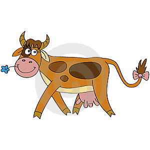 Happy Cow Royalty Free Stock Image - Image: 14545606