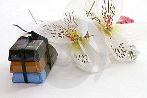Chocs And Flowers Royalty Free Stock Photos - Image: 14546408