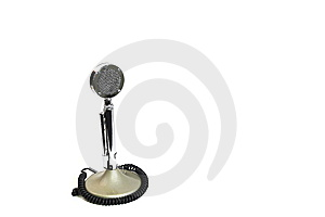 Old Fashion Microphone Royalty Free Stock Images - Image: 14547119