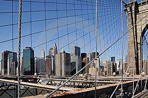 Brooklyn Bridge With NY Cityscape 2 Royalty Free Stock Image - Image: 14548836
