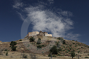 Old Hystorical Fort In Mountain Of Marocco Stock Photos - Image: 14549353