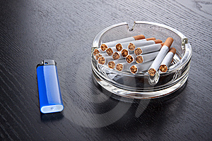 Ashtray And Lighter Stock Image - Image: 14550541