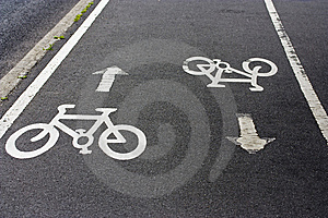 Two-way Cycle Path Stock Photos - Image: 14551243