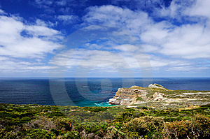Sea View Of South Atlantic From Cape Point Royalty Free Stock Images - Image: 14551439