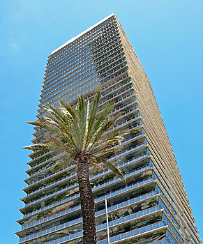 Barcelona Olympic Skyscraper Royalty Free Stock Photos - Image: 14554158