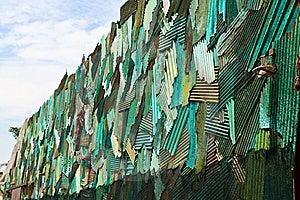 Zinc Wall Stock Image - Image: 14554581