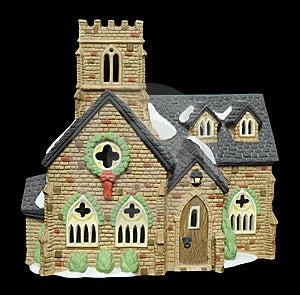 Miniature Christmas Church Stock Image - Image: 14554701