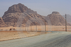 Road To The Wadi Rum Desert Stock Photos - Image: 14555273