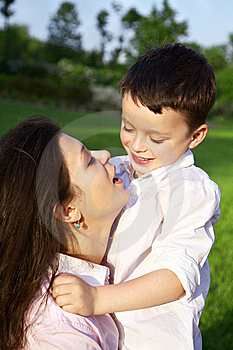 Mother Playing With Her Son Outdoor Royalty Free Stock Photo - Image: 14555475