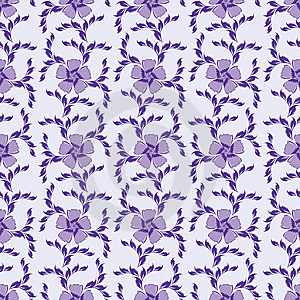 Purple Seamless Ornate Floral Background Royalty Free Stock Photo - Image: 14555565