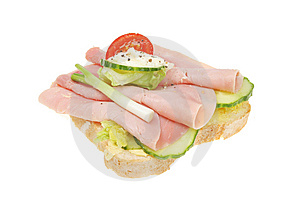 Open Ham Salad Sandwich Stock Photo - Image: 14555900