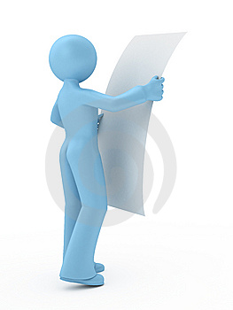 3d Person Is Reading. Stock Photography - Image: 14556932