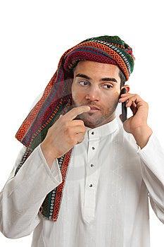 Pondering Arab Businessman Stock Images - Image: 14557134