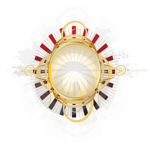 Beautiful Ornate Shield Royalty Free Stock Images - Image: 14557479