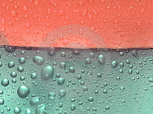 Abstraction. Water. Drops Of Water Royalty Free Stock Photos - Image: 14558608