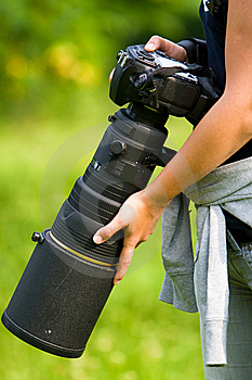 Professional Camera Outdoor Stock Image - Image: 14558751