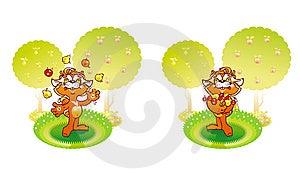 Cartoon Tomcat With Fruit Stock Photos - Image: 14558783