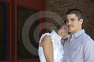 Attractive Couple Embrace Stock Photos - Image: 14559403