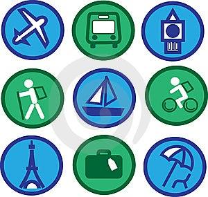 Traveling Icons - 2 Royalty Free Stock Image - Image: 14559566