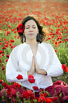 Woman Meditating Royalty Free Stock Photo - Image: 14559805