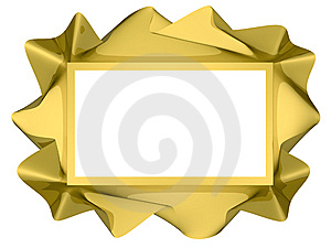 Golden Twisted Frame Royalty Free Stock Photography - Image: 14561337