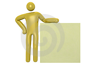Man Beside A Board Royalty Free Stock Photos - Image: 14561348