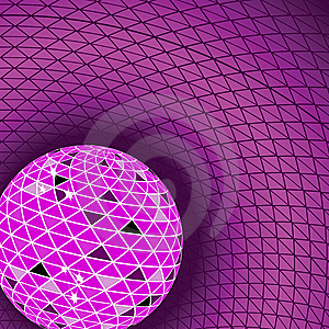 Red Disco Ball. Vector Illustration Royalty Free Stock Photo - Image: 14564965