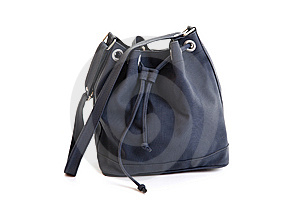 Dark Blue Leather Woman Handbag Stock Images - Image: 14565604