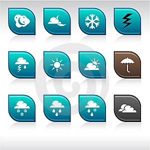 Weather Icons. Stock Photos - Image: 14567663