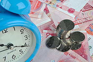 Time And Money Is Coming Royalty Free Stock Photos - Image: 14568418