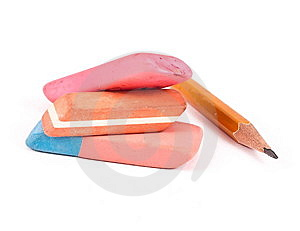 Erasers And Pencil Stock Photo - Image: 14568540
