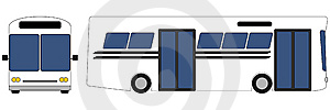 Vector Front And Profile View Of Bus Royalty Free Stock Photography - Image: 14569067