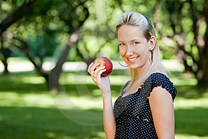 Girl With Apple Stock Photography - Image: 14570192